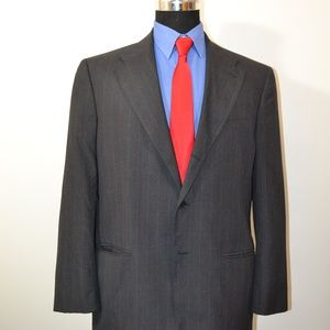 Perry Ellis 44R Sport Coat Blazer Suit Jacket Dark
